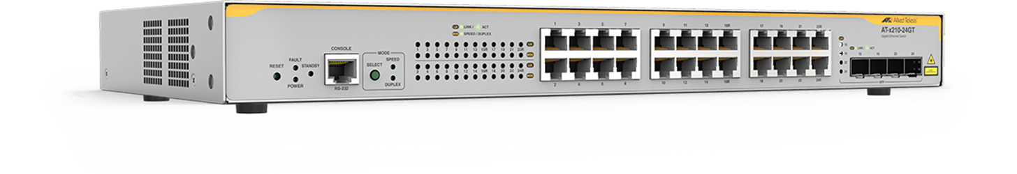 AT-X210 Series - Layer 2 Gigabit Switch (EoS)
