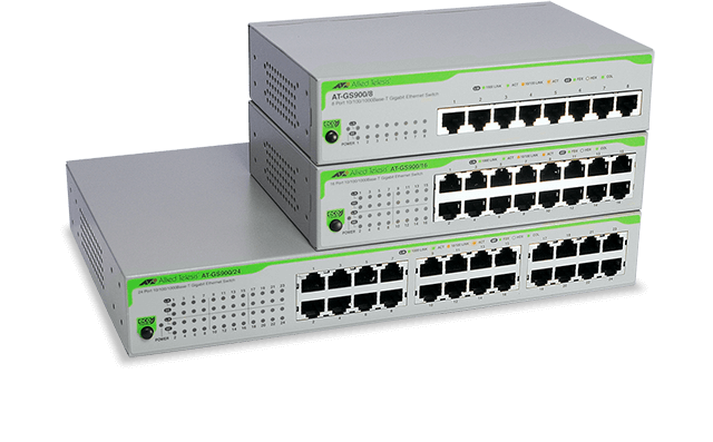 AT-GS900 Series - Unmanaged Gigabit Switch