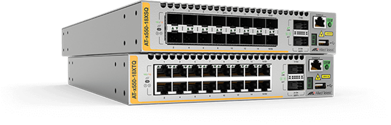 AT-x550 series - Advanced 1/10Gigabit Layer 3 Stackable Switches