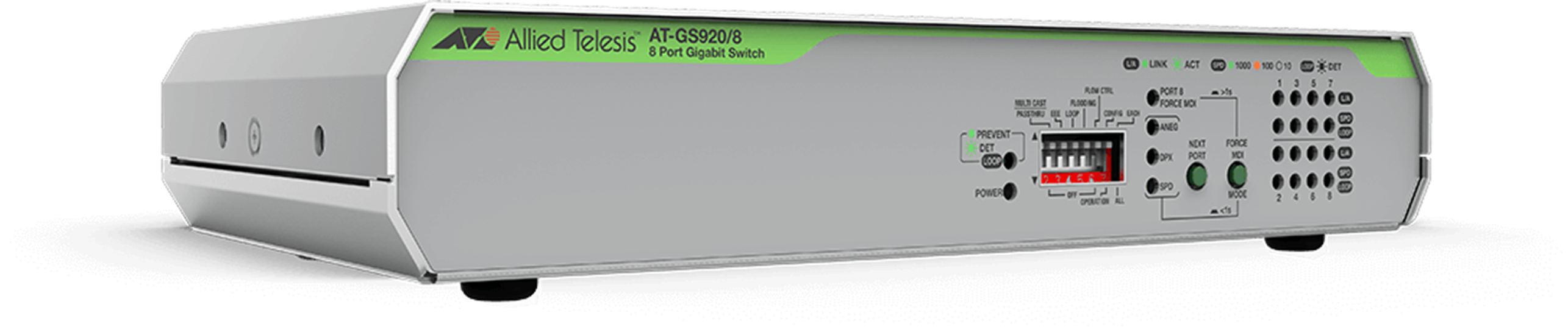 AT-GS920 Series - Unmanaged Gigabit Switch (Loop Protection)